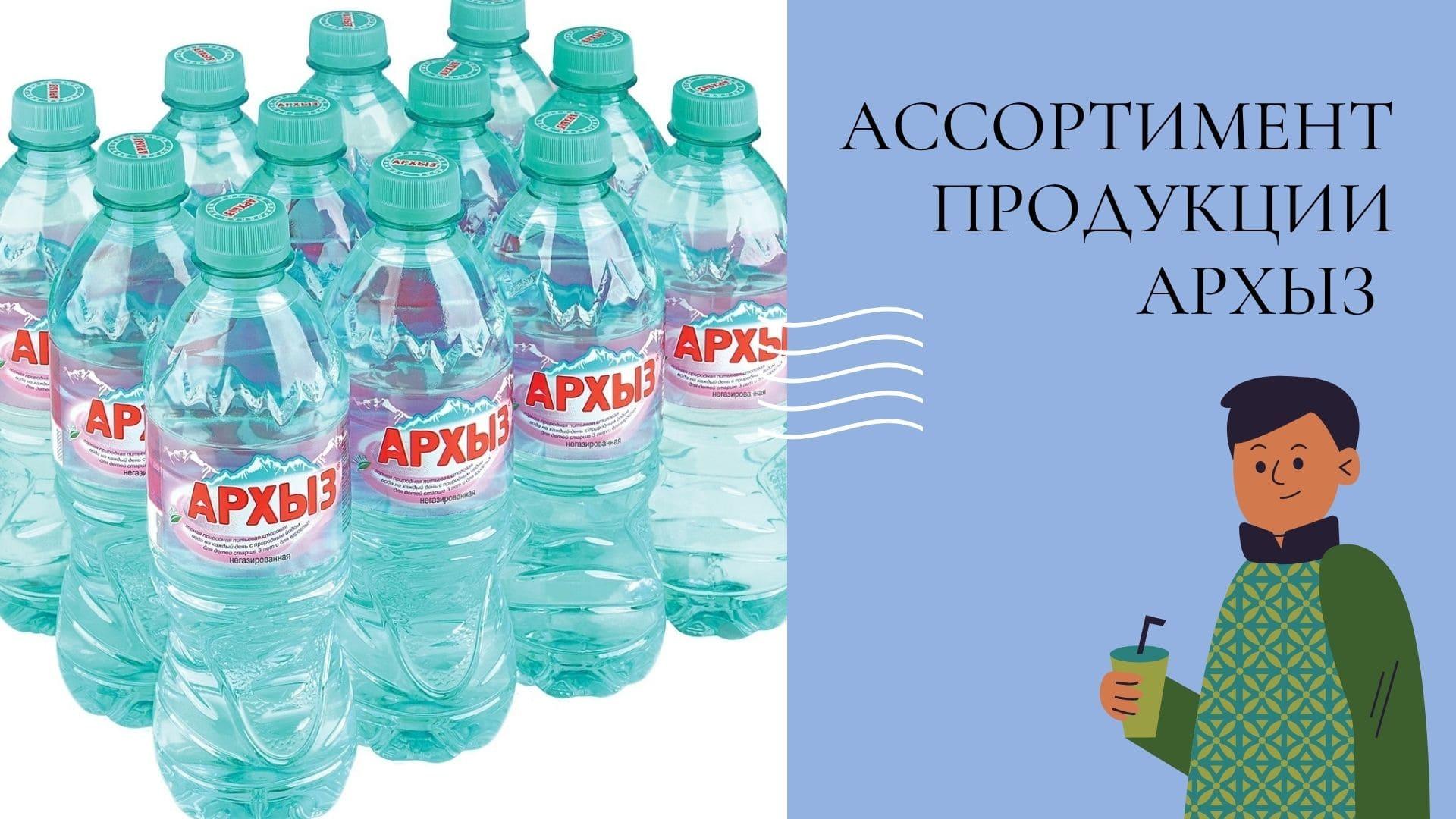 Ассортимент воды Архыз