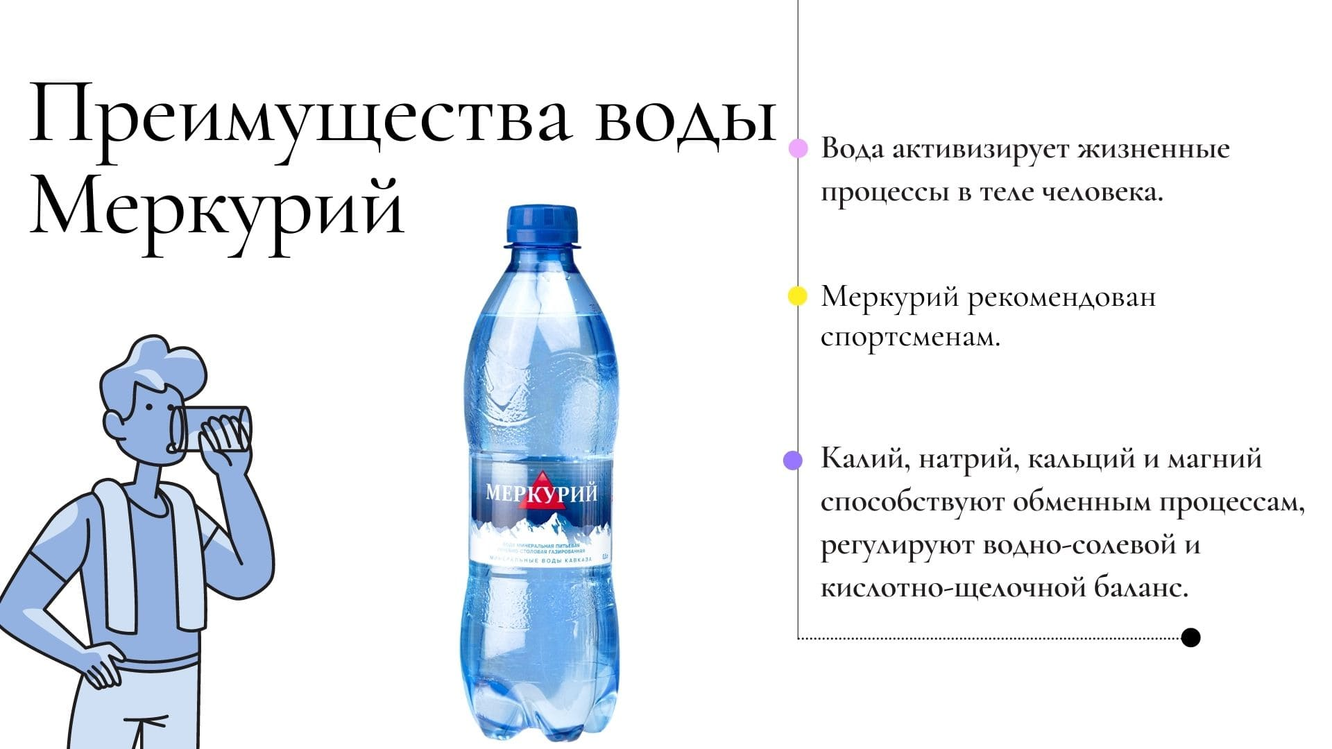 Преимущества воды Меркурий